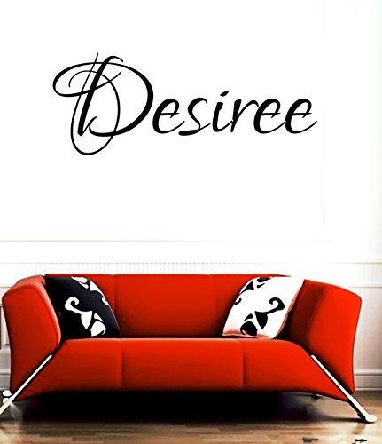 """Desiree-nome o denominazione room """", motivo: wall art in vinile, scritta in inglese"""""""