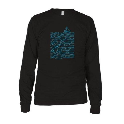 Blue Lines - Herren Langarm T-Shirt Schwarz