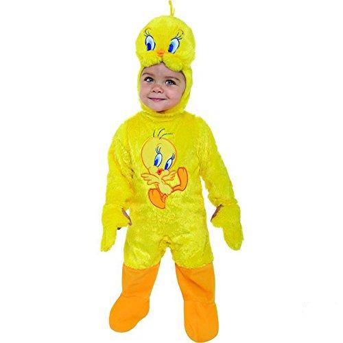 Tweety Baby Overall Gr. 18 Monate Fasching Karneval Kostüm Kinderkostüm Mottoparty Vögelchen (Tweety Baby Kostüm)