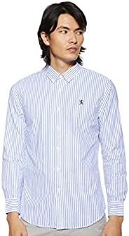 Giordano Men's 01048083 Oxford shirt with Small Lion Embroi