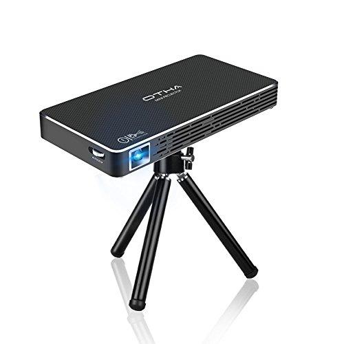 Proyector, OTHA Mini Proyectores Portatil 100 ANSI Lúmenes Proyector de Video Home Cinema, Entrada HDMI a Su Ordenador Portátil / PC / PS4, Conectividad Inalámbrica Bluetooth Wi-Fi, Memoria de 32GB