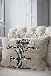 Jeanne d´Arc living Kissen Dekokissen Zierkissen Paris Heavy Linen Kissenhülle 50x70cm 100% Leinen Cushion Post Card