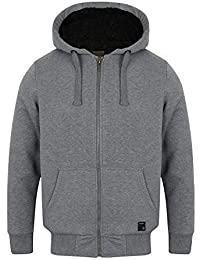ef078d5f0ab18 Dissident Mens Vadim Sherpa Fleece Lined Thick Insulated Zip up Hoodie