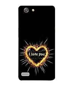 PrintVisa Designer Back Case Cover for Oppo Neo 7 :: Oppo A33 (I Love You Heart Design In Yellow)