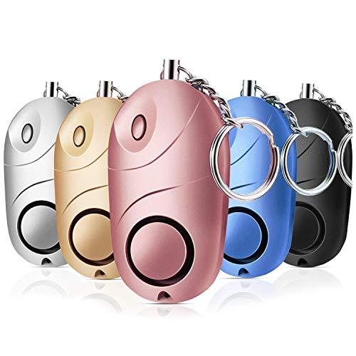 XZANTE 5 Packungen Sichere Stimme Pers?nlicher Alarm, 130 Dezibel Notfall Sicherheits Schlüssel Kette, Selbst Verteidigung Sicherheit Akustischer Alarm Mini Led Taschen Lampe