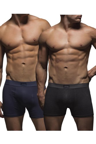 mens-2-pack-jeep-cotton-plain-fitted-hipster-trunk-boxer-shorts-navy-charcoal-m