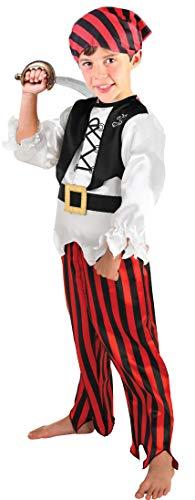 iraten Kapitän Kostüm Mädchen Kind Kinder Buccaneer Kostüm Karibik Pirat 7-8 Jahre ()