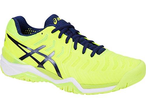 Asics Gel-Resolution 7, Chaussures de Tennis Homme, Noir, 7 EU