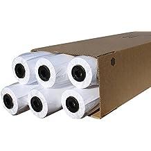 CABRO 50914-50 Qualitäts Plotterpapier, 80 g, 914 mm, 50 Laufmeter, weiß (1 Karton mit 6 Rollen)