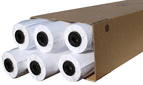 CABRO 51610-46 Qualitäts-Plotterpapier, 6 Rollen, 90 g, 610 mm x 46 m, Ideal für Pläne, Cad-Skizzen, weiß