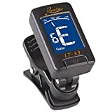 Beaulies LCD Digital Guitar Tuner Clip-on Electronic Tuner with a Clip for Chromatic Bass Violin Ukulele Digital