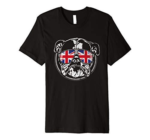 Englische Bulldogge Union Jack Flagge Hund Hunde T-Shirt