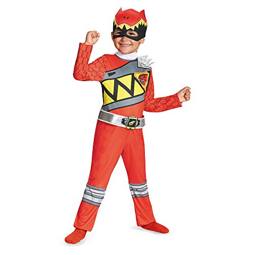 Disguise Red Ranger Dino Charge Toddler Classic Costume, Large (4-6) by Disguise (Dino Charge Red Ranger Kostüm)