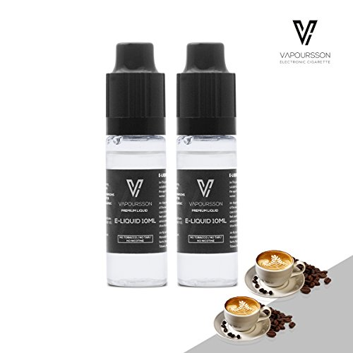 VAPOURSSON 2 X 10ml E Liquid | Cappuccino | 2 Pack New Formula To Create A Super Strong Flavour with Only High Grade Ingredients | Made For Electronic Cigarette and E Shisha | Eliquid