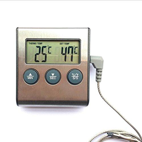 Termómetro digital eléctrico para barbacoa de alimentos, hidrotermógrafo, termógrafo, temporizador de detección...