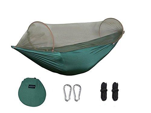 AlienTech Outdoor Fallschirm Hängematte Tragbarer Camping Hängematte mit Moskitonetz Single Person Hängematte Swing - Eno Hängematte Net