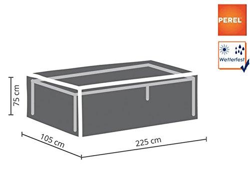Perel Garden OCT220 Schutzhülle Für Gartentisch-Maximum 220 cm, Anthrazit, 225 x 105 x 75 cm