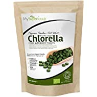 Organic Chlorella Tablets (300 x 500mg) | MySuperFoods | Incredibly High Chlorophyll Content | Bursting with Nutrients | Certified Organic | Healthy Edible Algae | Add to Drinks and Smoothies