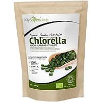 Bio Chlorella-Tabletten (300 x 500mg) | MySuperFoods | unglaublich hoher Chlorophyllgehalt | Platzt mit Nährstoffen| Organisch zertifiziert | Gesunde essbare Alge | In Getränke und Smoothies