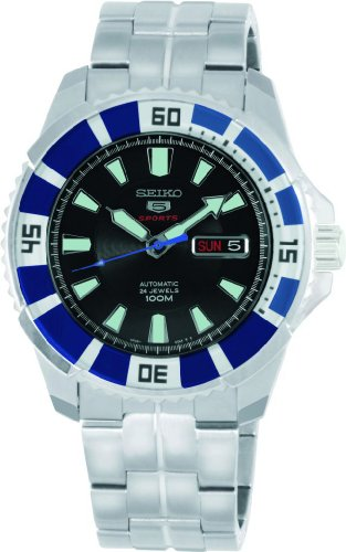 Seiko Herren-Armbanduhr XL Analog Automatik Edelstahl SRP203K1