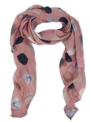 Seiden-Tuch für Damen mit Punkt-Print von Zwillingsherz / Elegantes Accessoire für Frauen auch als Schal / Seiden-Schal / Halstuch / Schulter-Tuch oder Umschlagstuch einsetzbar (altrosa)