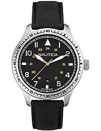 Nautica A10097G - Reloj de pulsera hombre, varios materiales, color negro