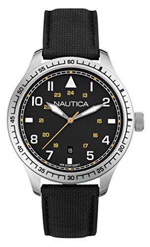 Nautica A10097G - Orologio da polso uomo, diversi materiali, colore: nero