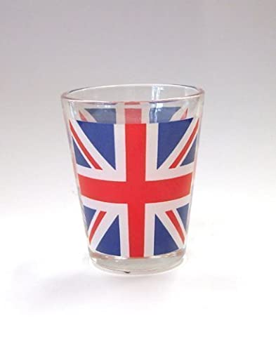 PACK OF 6 - Souvenir Union Jack Shot Glass
