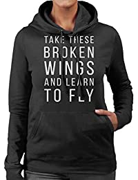 The Beatles Blackbird Lyrics Womens Hooded Sweatshirt