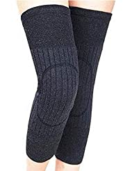 Ericotry Unisex Winter Warm Thicken Cashmere Wool Knee Brace Support Pads Leg Warmers Thin Knee Sleeves for Men and Women Sports and Daily Wear (Dark Grey)