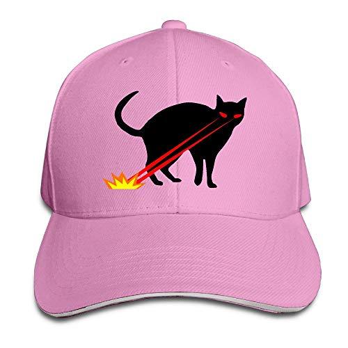 Xdevrbk Snapback Black Cat mit Laser Eyes Abbildung Sandwichkappe Multicolor95