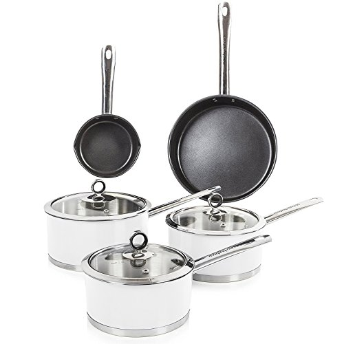 Morphy Richards Accents Pan Set, 5 Piece - White