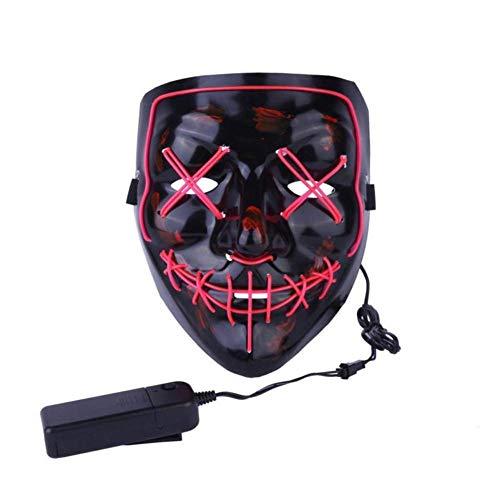 Halloween LED Licht Up Party Masken Cocktail Selfie Maske X Gesicht Horror Grimace Glow Mask Prom Decoration Reps Kostüm Anonymous Maske für leuchtende Tanzen Karneval Party Masken Halloween rose