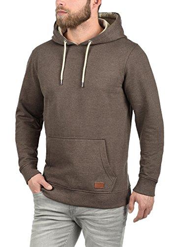 BLEND Suker Herren Kapuzenpullover Hoodie Sweatshirt aus hochwertiger Baumwollmischung Meliert Mocca Mix (70816)