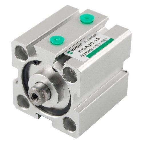 Preisvergleich Produktbild sourcingmap® SDA Pneumatikzylinder, kompakt, Bohrung 20mm, Hub 15mm