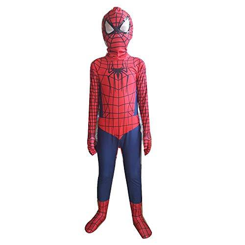 MIAO Halloween Kinder außergewöhnliche Spider-Man-Kostüm Held Rückkehr zum Körper Strumpfhosen Cosplay Kleidung männlich Spielen,Children's Spiderman- Children XL (130~140cm)