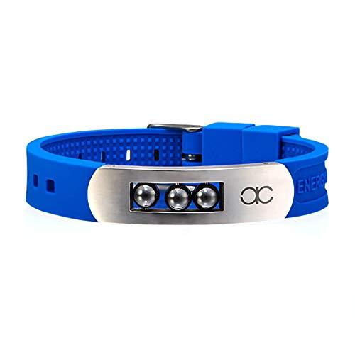 bänder, 4 In 1 Negatives Ionenband, Germanium, Silikon, Aufgeladen Mit Negativen Ionen, Armband Und Stilvolles Armband, Für Männer Und Frauen,Blue ()