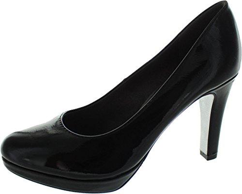s.Oliver 22400, Scarpe con Tacco Donna Nero (Black Patent)
