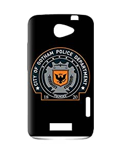 Warner Bros PBWBHTCOX610 Dark Knight-Batman Gotham Police Back Cover for HTC One X Officially Licensed (Multicolor)