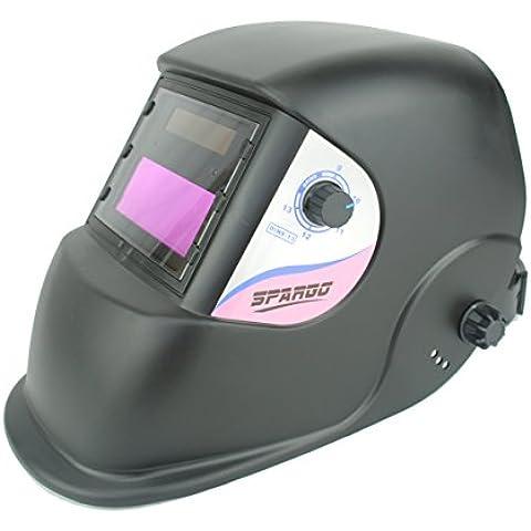 Oscurecimiento automático Spargo soldadura ojos Protección Solar casco corte con Gas Tig soldador Mig con varios diseños con función de molienda