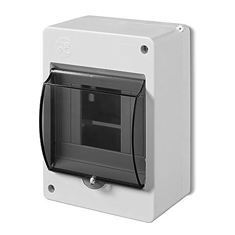 Sicherungskasten Verteilerkasten Aufputzverteiler 4 Module Aufputz IP30