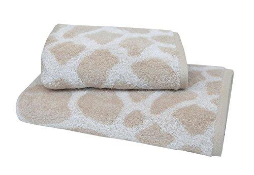 Dyckhoff Frottiertücher Giraffe, 100 % Baumwolle Größen Handtuch (50 x 100 cm)