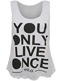 (womens sleeveless yolo vest top)(m8) femmes sans manches yolo gilet haut