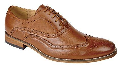 GOOR 5 Ösen, Brogue Herren Oxford-Schuhe Hautfarben