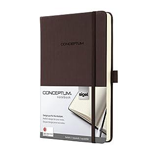 Sigel CO565 Notizbuch, ca. A5, kariert, Hardcover, braun, CONCEPTUM - viele Modelle