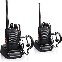 SHOPEE BF-888S UHF 400-470MHz CTCSS/DCS with Earpiece Handheld Amateur Radio Walkie Talkie Two Way Radio Long Range (Black, 2 Pack)