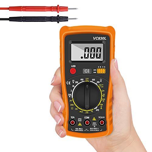 Digital Multimeter,Multimeter Voltmeter AC/DC Multi Tester,Digital Multimeter Messgerät mit LCD-Display Testet Dioden, Transistoren, Strom, Widerstand,Multimeter für Schule Labor Factory usw