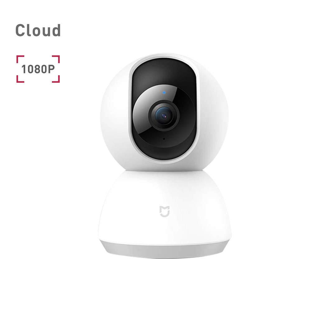 Mi Home Cámara Domo HD 1080P Seguridad 360 ° Sistema de cámara IP para vigilancia de Seguridad inalámbrica con Motion Tracker, Alerta de Actividad, visión Nocturna, Android iOS