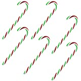 TRIXES Zuckerstangen, gestreift, 6 x 15 cm, Red, Green & White