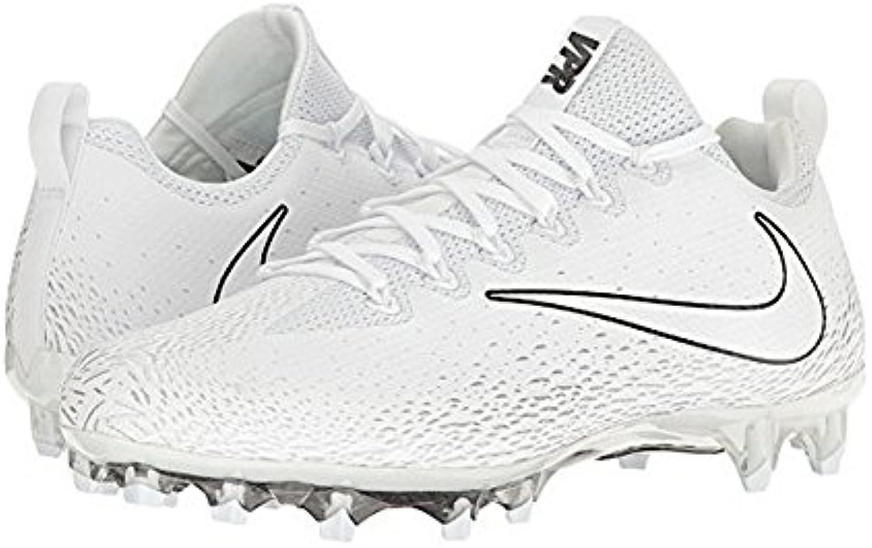 Intocable Pro Blanco/Blanco/Metalizado Plata enlistonado Zapatos 8.5 DE Vapor Nos